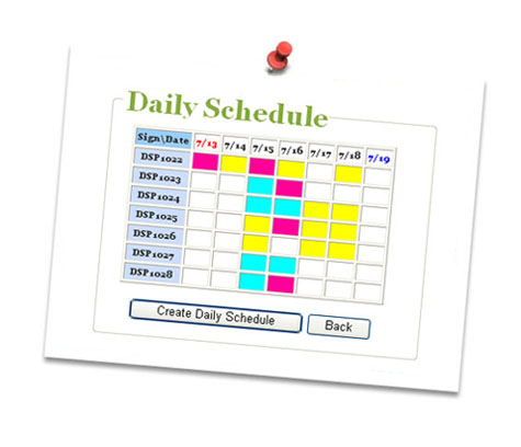 Example: Weekly Schedule