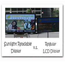 Sunlight Readable Digital Signage Display